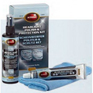 Sada na renovaci a ošetření světel Headlight Polish & Protection Kit
