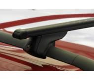Univerzální příčný střešní nosič Piccola-m Flexibar černé tyče zamykatelný