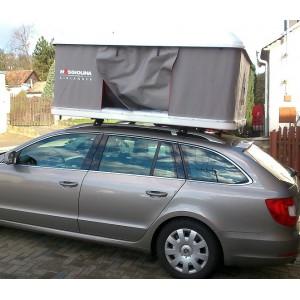 Autostan spací nástavba na střechu automobilu Maggiolina AIRLANDER LARGE 2 + 2 - šedá nebo modrá tkanina