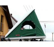 Autostan spací nástavba na střechu automobilu COLUMBUS WILD GREEN LARGE 2+2