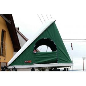 Autostan spací nástavba na střechu automobilu COLUMBUS WILD GREEN LARGE 2+2 + alu prodloužený žebřík